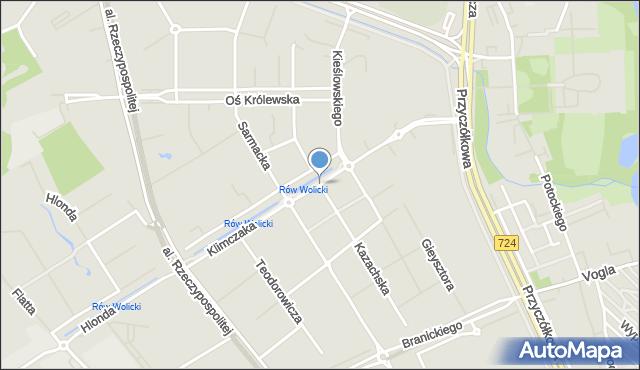 Warszawa, Klimczaka Franciszka, mapa Warszawy