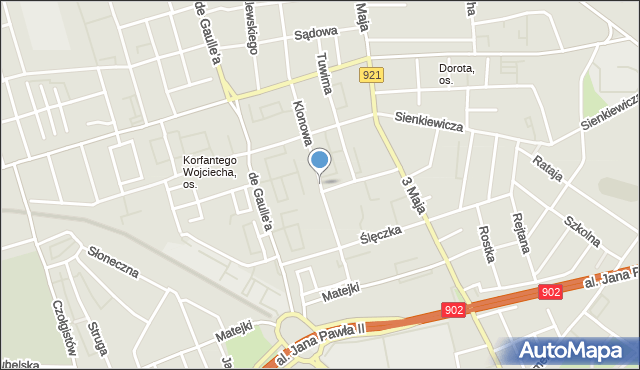 Zabrze, Klonowa, mapa Zabrza