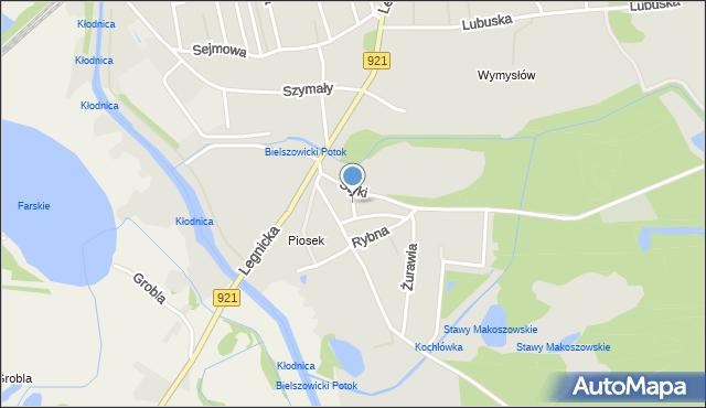 Zabrze, Kłodnicka, mapa Zabrza
