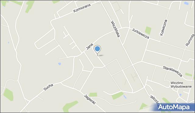 Gdynia, Kmicica Andrzeja, mapa Gdyni
