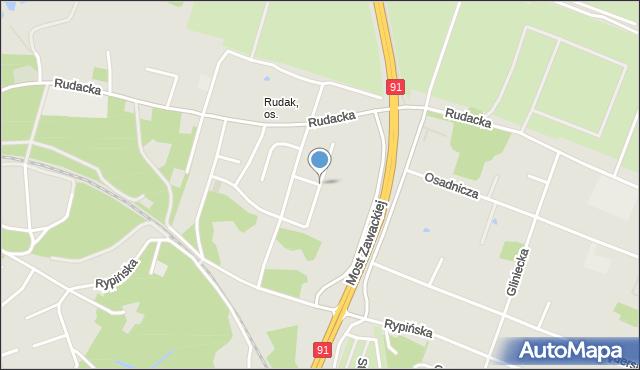 Toruń, Kmicica Andrzeja, mapa Torunia