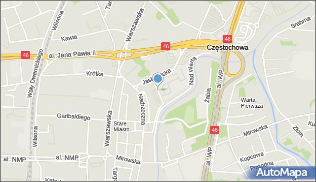 Częstochowa, Knauera Kazimierza, mapa Częstochowy