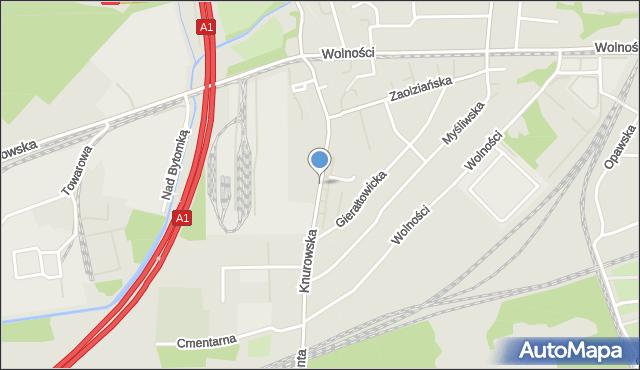 Zabrze, Knurowska, mapa Zabrza