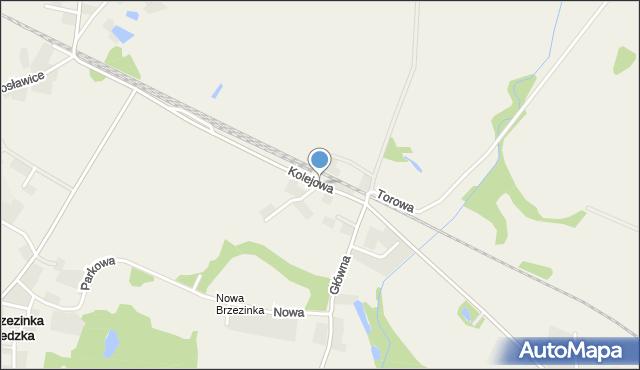 Brzezinka Średzka, Kolejowa, mapa Brzezinka Średzka