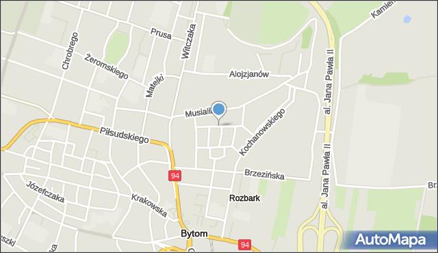 Bytom, Konopnickiej Marii, mapa Bytomia