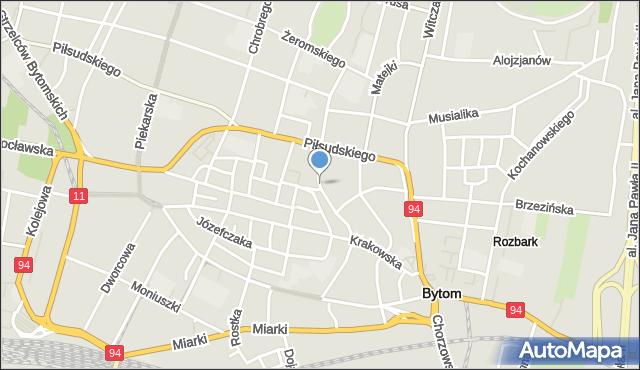 Bytom, Korfantego Wojciecha, mapa Bytomia