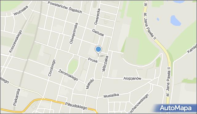 Bytom, Kossaka Juliusza, mapa Bytomia