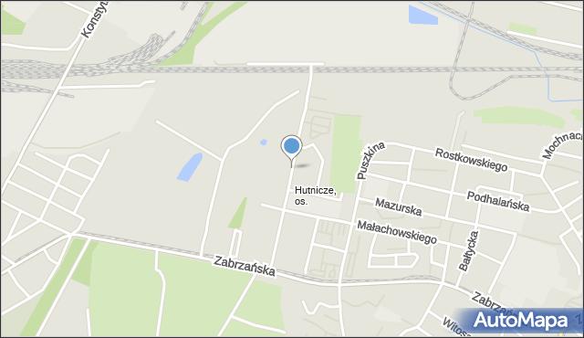 Bytom, Kosynierów, mapa Bytomia