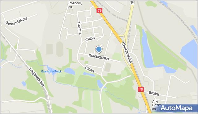 Bytom, Kołobrzeska, mapa Bytomia