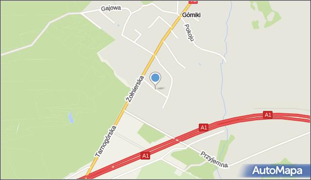 Bytom, Koksowa, mapa Bytomia