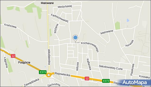 Chełm, Kochanowskiego Jana, mapa Chełma