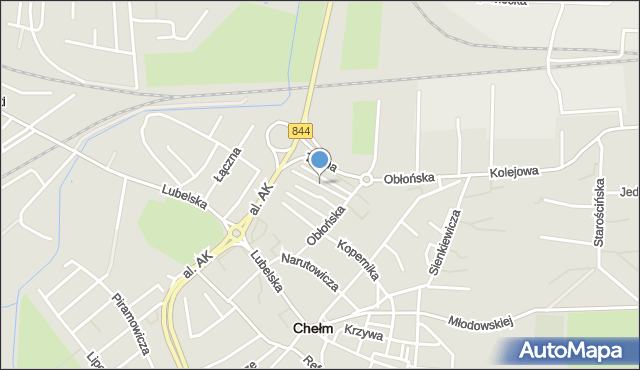 Chełm, Konopnickiej Marii, mapa Chełma