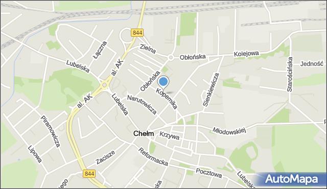 Chełm, Kopernika Mikołaja, mapa Chełma