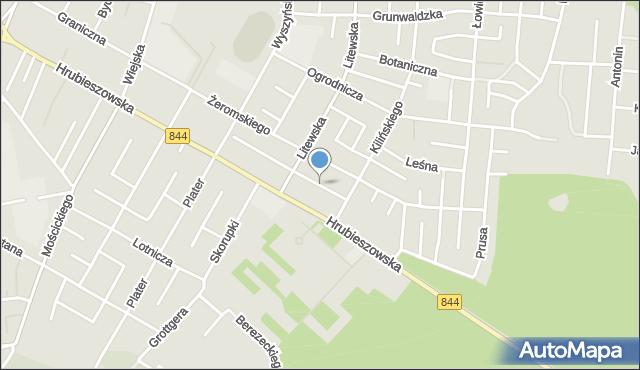 Chełm, Kornasa Eugeniusza, mapa Chełma