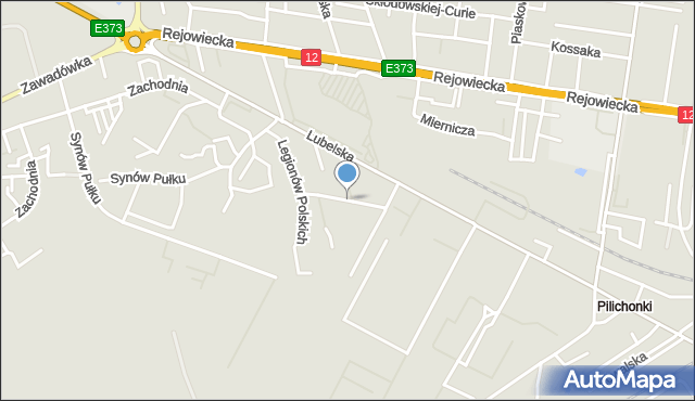Chełm, Koszarowa, mapa Chełma
