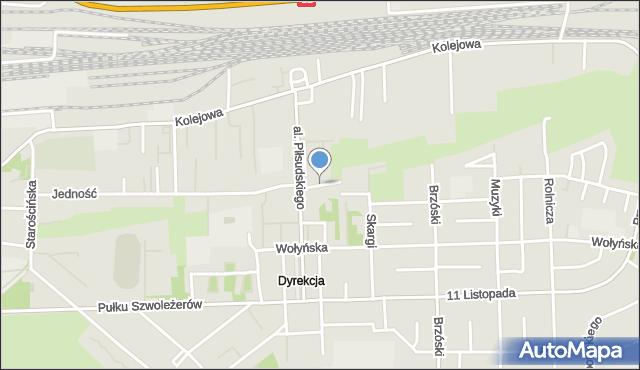 Chełm, Koszykowa, mapa Chełma