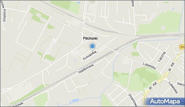 Chełm, Kowalska, mapa Chełma