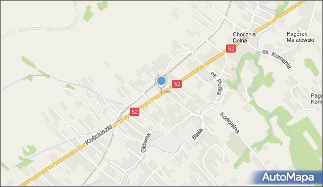 Chocznia, Kościuszki Tadeusza, gen., mapa Chocznia