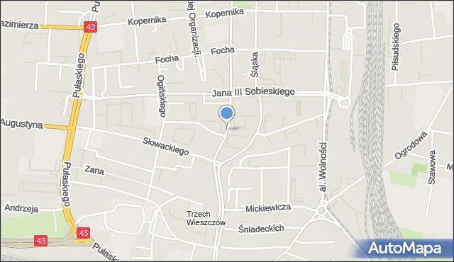Częstochowa, Korczaka Janusza, mapa Częstochowy
