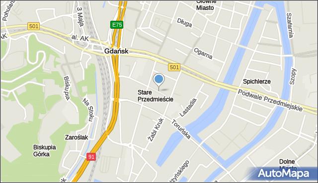 Gdańsk, Kocurki, mapa Gdańska