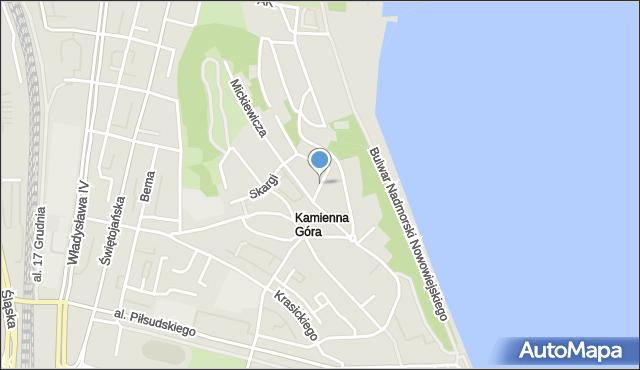 Gdynia, Kochanowskiego Jana, mapa Gdyni