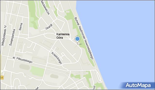 Gdynia, Korzeniowskiego Józefa, mapa Gdyni