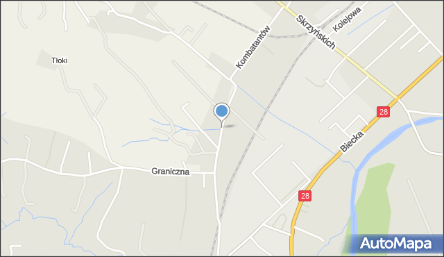 Gorlice, Kombatantów, mapa Gorlic