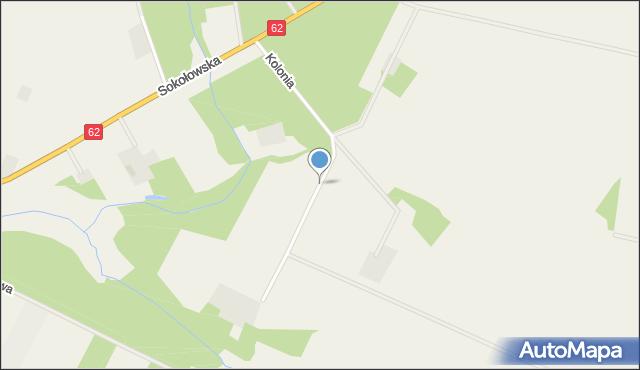 Grochów Szlachecki, Kolonia, mapa Grochów Szlachecki