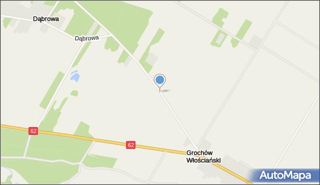 Grochów Włościański, Kolonia, mapa Grochów Włościański