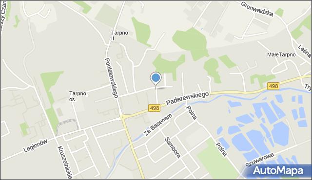 Grudziądz, Kołłątaja Hugo, mapa Grudziądza