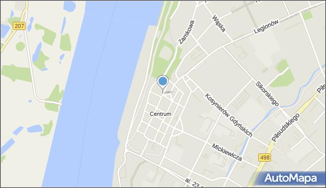 Grudziądz, Kościelna, mapa Grudziądza