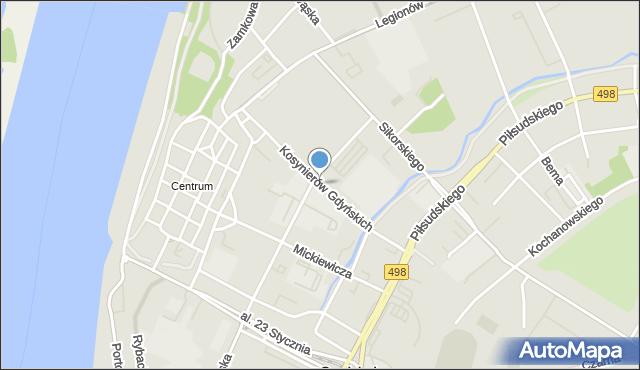 Grudziądz, Kosynierów Gdyńskich, mapa Grudziądza