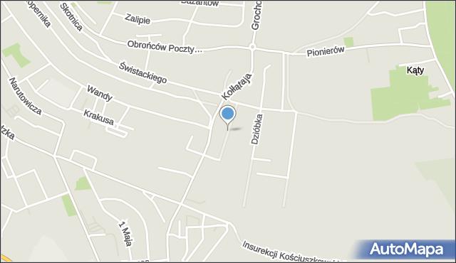 Jaworzno, Kowarzyków, mapa Jaworzno