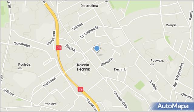 Jaworzno, Kochanowskiego Jana, mapa Jaworzno