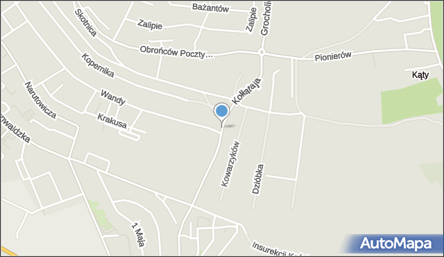 Jaworzno, Kołłątaja Hugo, mapa Jaworzno