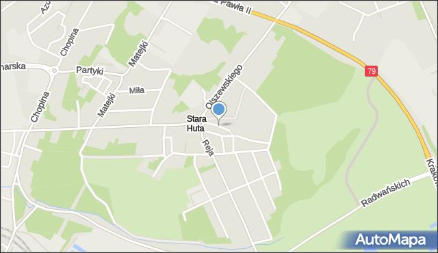 Jaworzno, Konopnickiej Marii, mapa Jaworzno