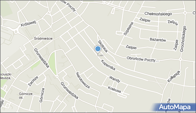 Jaworzno, Kopernika Mikołaja, mapa Jaworzno