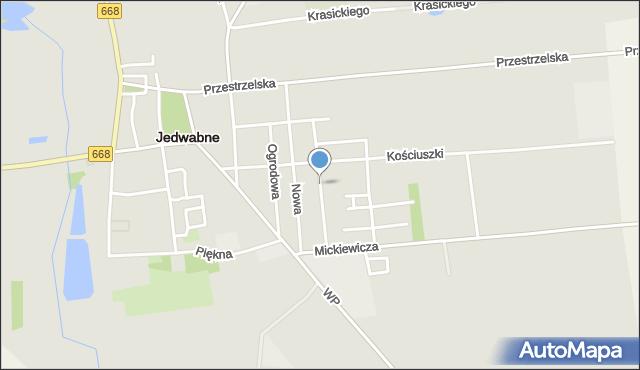 Jedwabne, Konopnickiej Marii, mapa Jedwabne