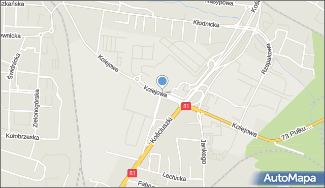 Katowice, Kolejowa, mapa Katowic