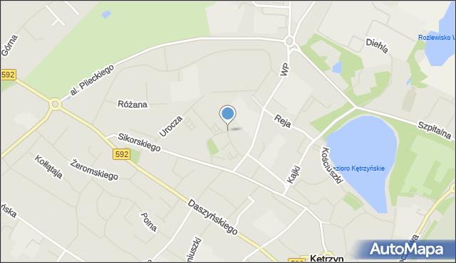 Kętrzyn, Kołobrzeska, mapa Kętrzyn