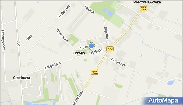 Kobylin gmina Grójec, Kobylin, mapa Kobylin gmina Grójec