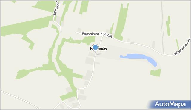 Kocianów, Kocianów, mapa Kocianów