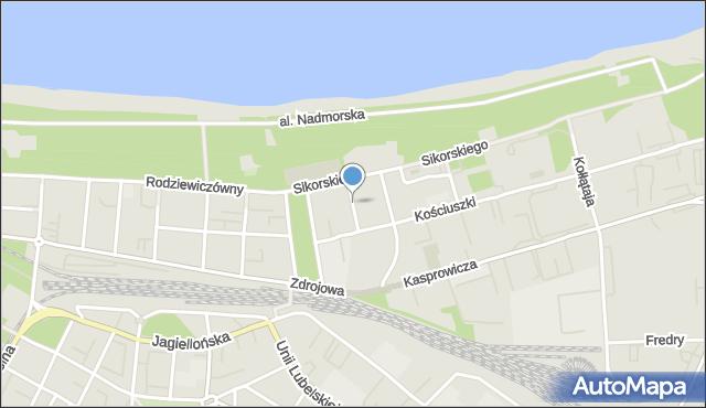 Kołobrzeg, Kopernika Mikołaja, mapa Kołobrzegu