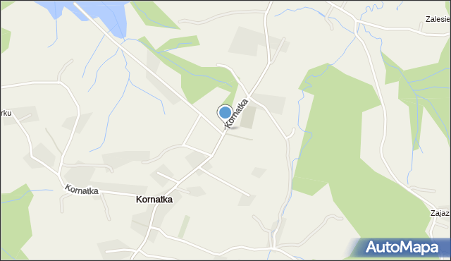 Kornatka gmina Dobczyce, Kornatka, mapa Kornatka gmina Dobczyce