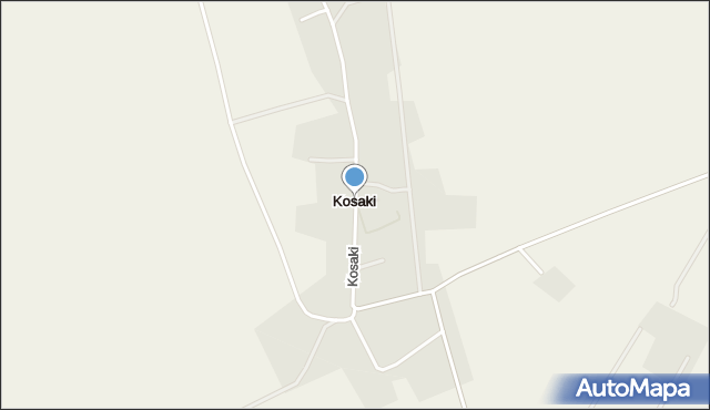 Kosaki, Kosaki, mapa Kosaki