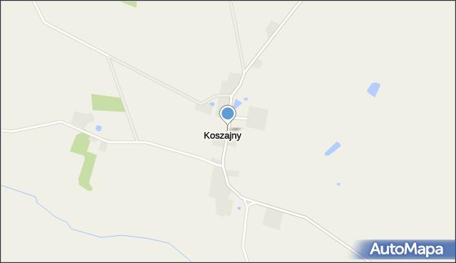 Koszajny, Koszajny, mapa Koszajny