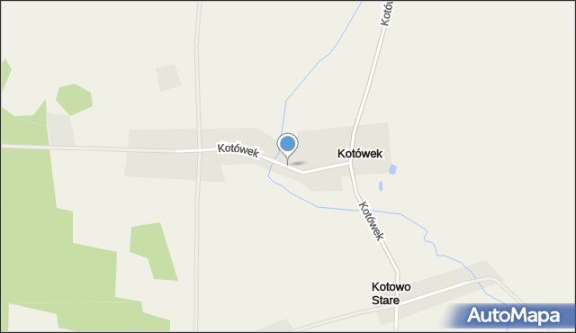 Kotówek, Kotówek, mapa Kotówek