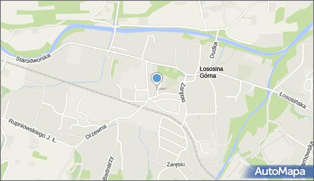 Limanowa, Koszarska, mapa Limanowa
