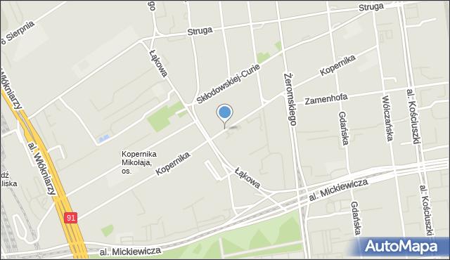 Łódź, Kopernika Mikołaja, mapa Łodzi