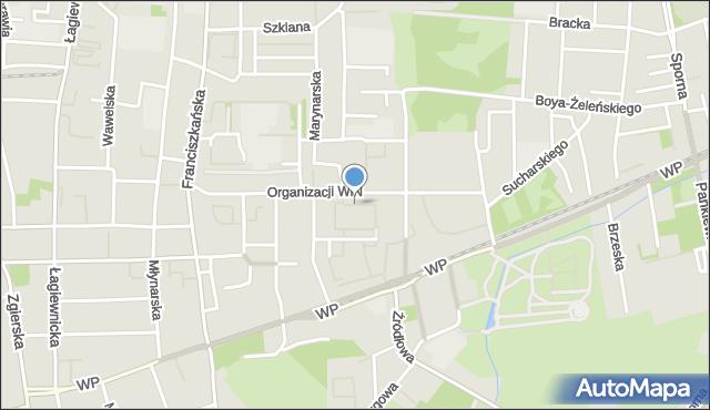 Łódź, Komunardów, mapa Łodzi